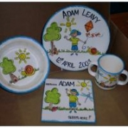 Handpainted Plate Set - Boys Breakfast Set